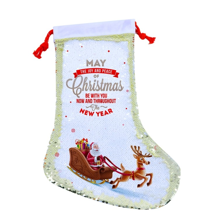 Sequin Christmas Stocking-40*26cm-purple