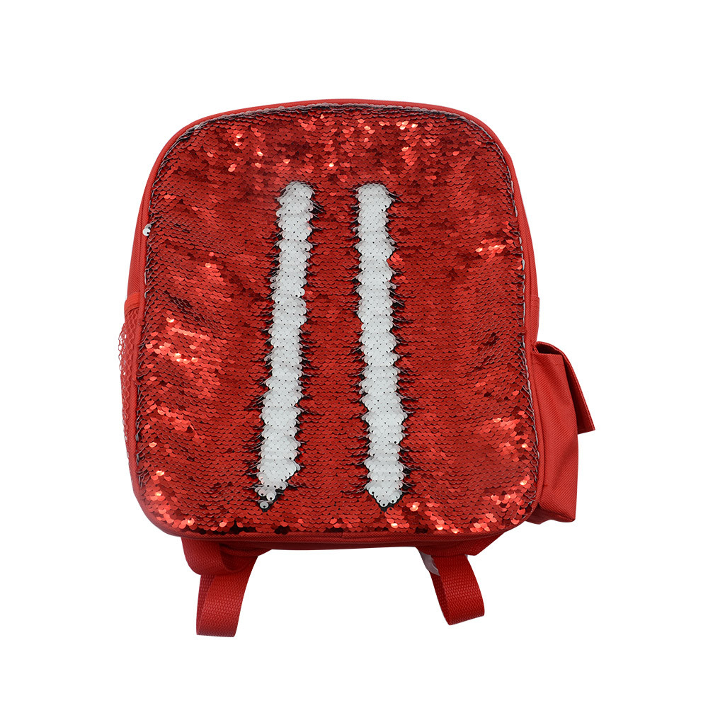 Sequin Kids Backpack-Red